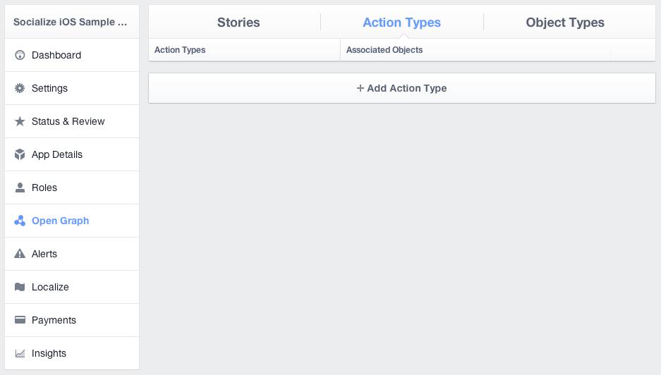 Facebook open graph types